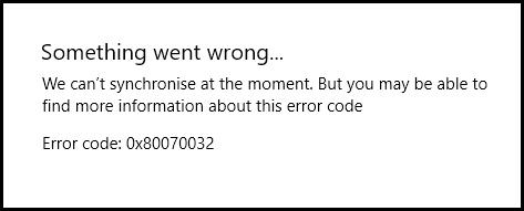 0x80070032-error