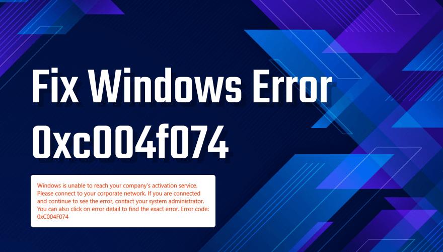Fix activation error 0xc004f074