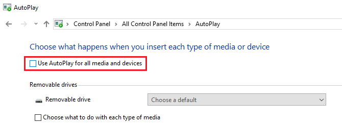 Use AutoPlay for all media and devices
