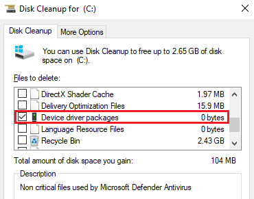 Device driver packages