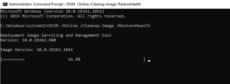 DISM: RestoreHealth