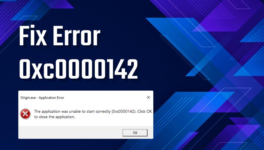0xc0000142 error