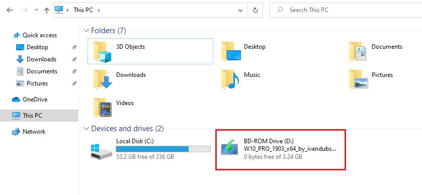ISO virtual drive