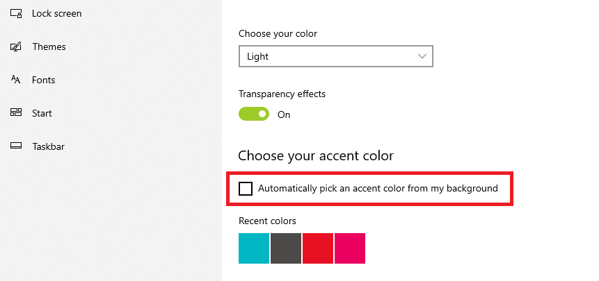 Automatically pick an accent color from my background