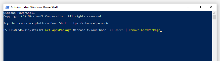 Windows PowerShell application