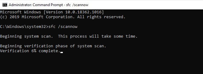 sfc-scannow command