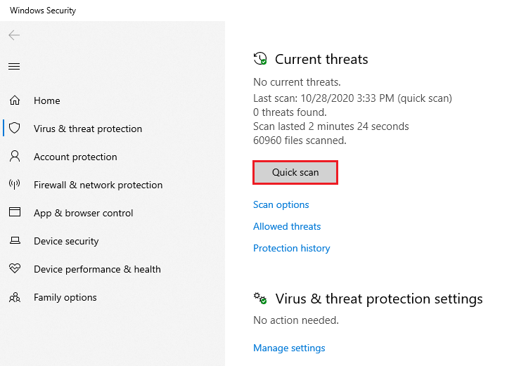 Windows Security Quick Scan