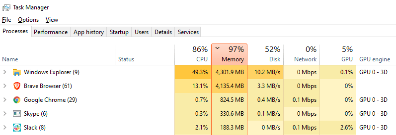 Windows Explorer high CPU load