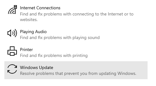 Windows Update troubleshooting
